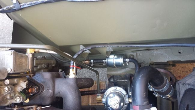 tidy up engine compartment