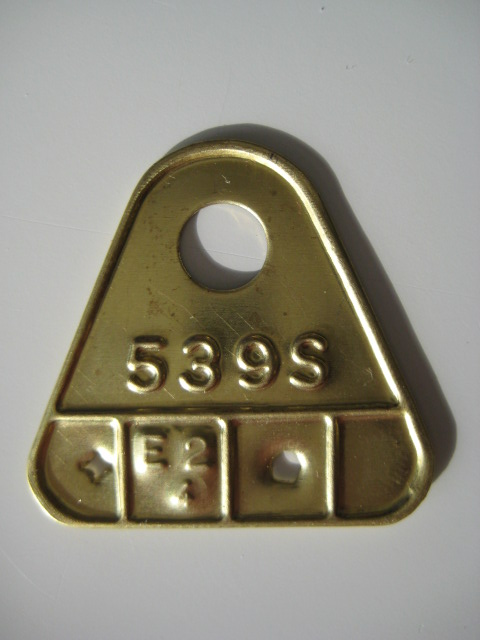 Carter Carburetor Brass Tag