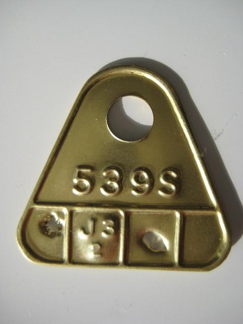Carter Carburetor Brass Tag