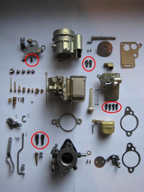 Carter Carburetor screws and plugs - G503 Military Vehicle
