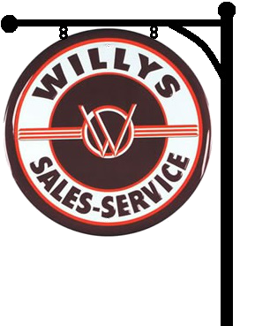 Willys Sales and Service Sign