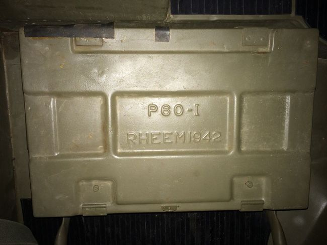 ammo box in jeep- under passenger seat