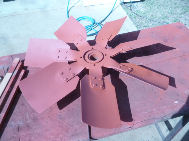 969_Cummins_fan_straightened_and_undercoated_6_2016