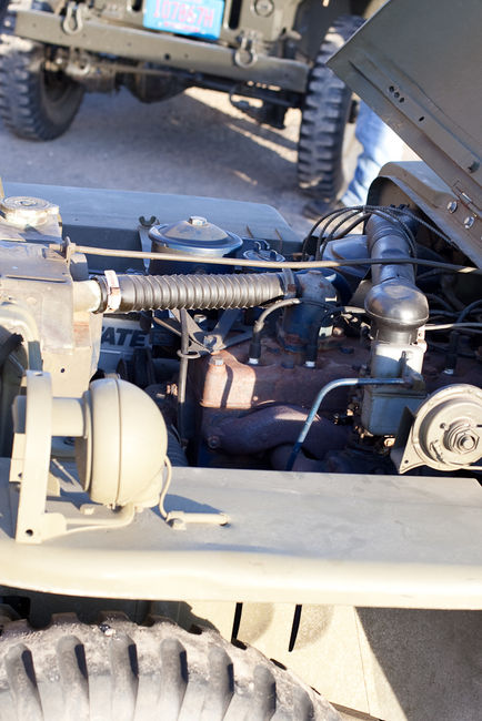Willys MB engine compartment view