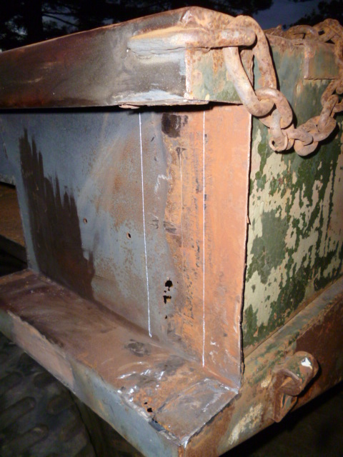 LHS wrecker body rust repairs