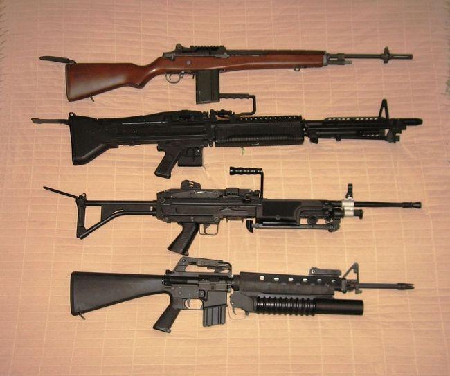 M14 M60 M249 M16 M203