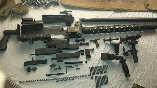 WW2 1919A4 30 06 Parts Kit, complete less right side plate - G503