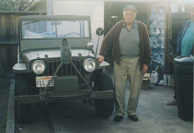 Grandpa Al with the jeep.
