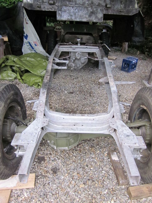 Frame stripped down to bare metal