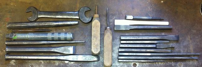Today's chisels and punches