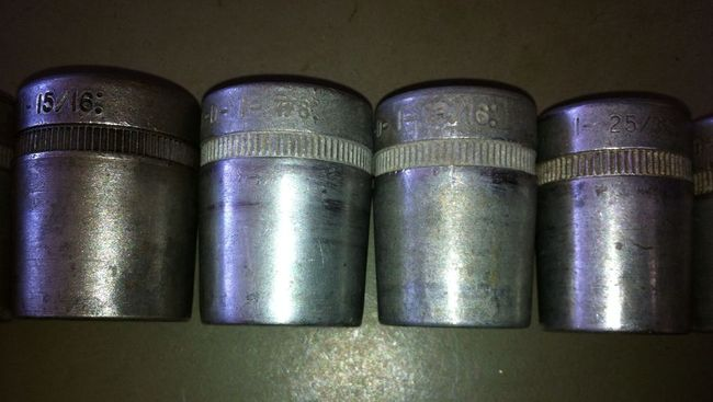 Medium sockets close up