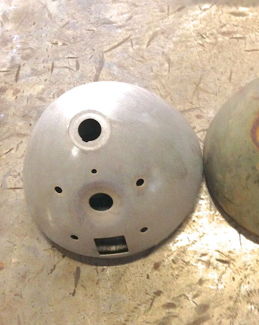 Large Fender Mount Headlights : Reproduction fender mounted headlights for sale