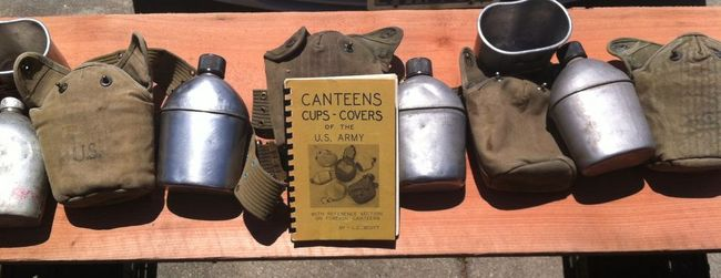 Canteens, Cups & Covers with book