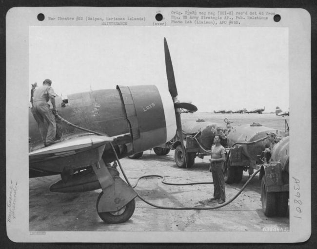 Fueling P-47's