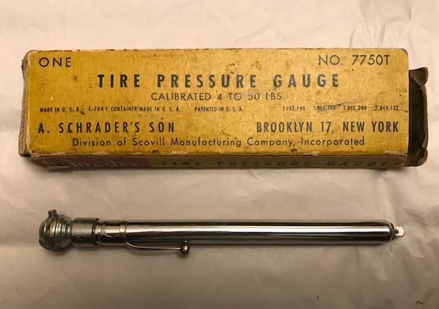 Schrader tire pressure gauge