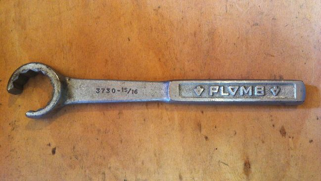 """Plomb 15/16"""" flare nut wrench"""