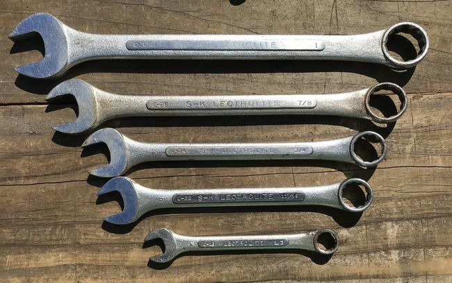 S-K Lectrolite combo wrenches