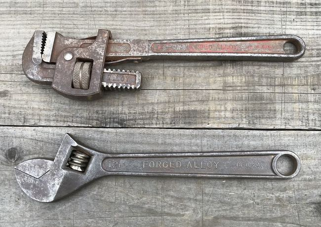 S-K Wayne pipe and S-K adjustable wrench