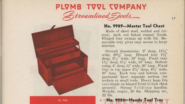 Plomb toolbox listing