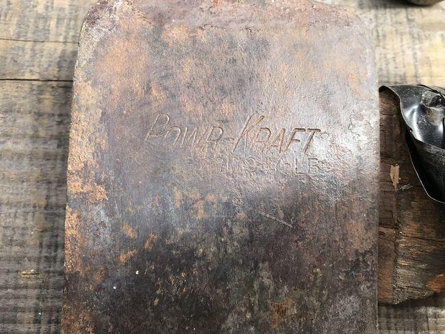 Estate sale 5/19/18 PowrKraft axe markings