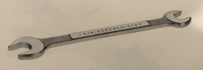 Barcalo 1960 catalog wrench image
