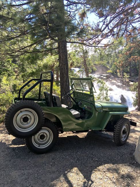 Greg's Jeep at the waterfall 6/16