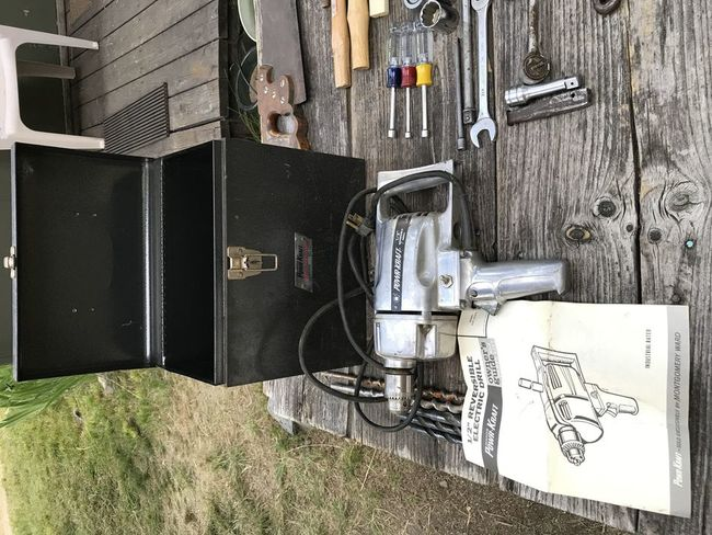 PowrKraft drill with box from Markleeville 9/1/19