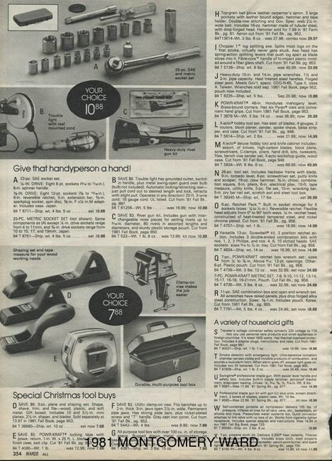 1981 MONTGOMERY WARDS Page