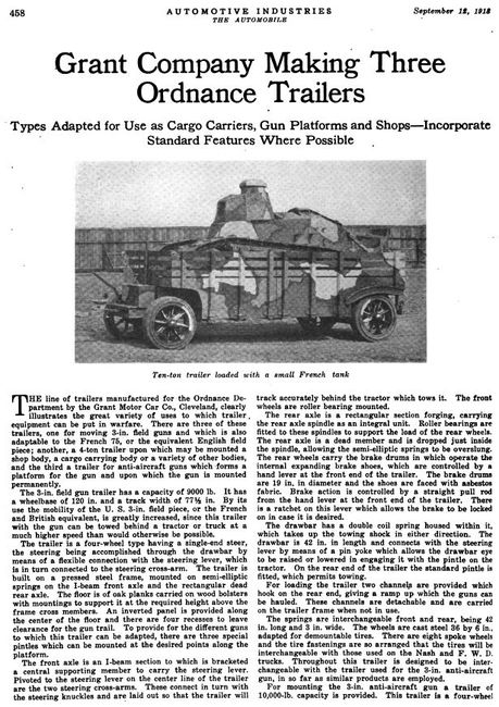 1918 3 Ton trailer with M1902 Caisson and Limber