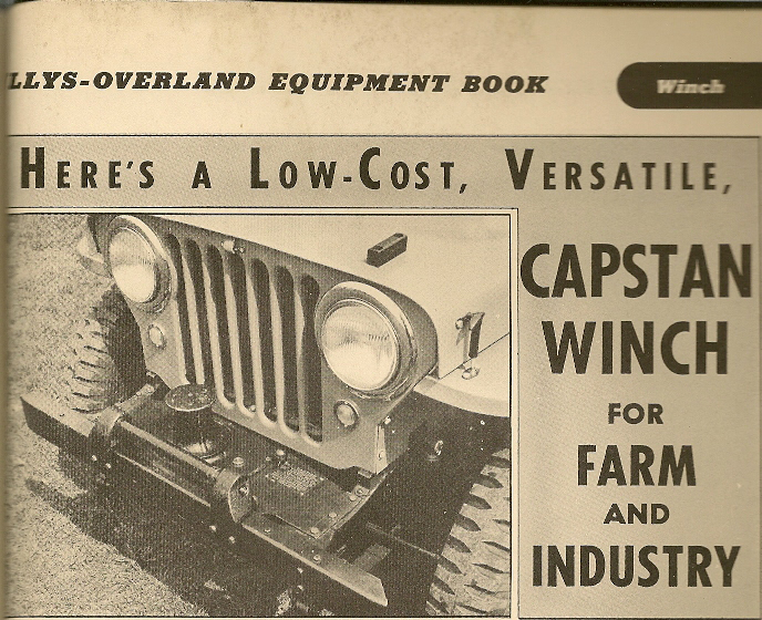 Link Belt Capstan Winch - The CJ2A Page Forums - Page 1
