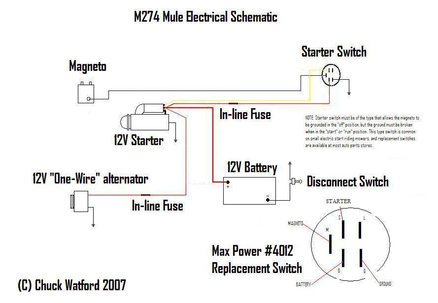 Mule_Wiring_Schematic4 pssst chuck, how about an electric start series? g503 military unimog 404 wiring diagram at mifinder.co