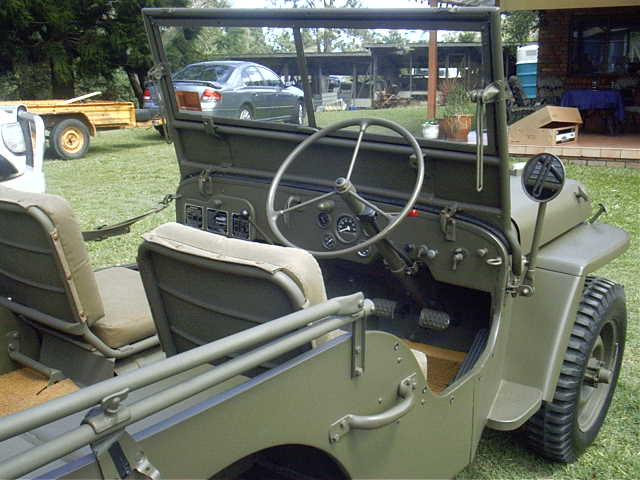 Right hand drive jeep