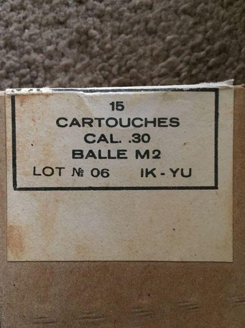 Cartouche .30cal M2 Balle