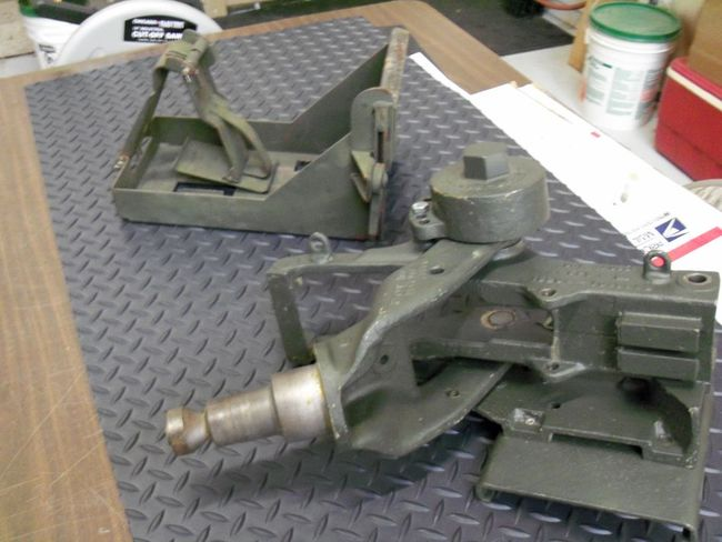 FOR SALE - M23 50 CAL  GUN CRADLE & AMMO TRAY - G503