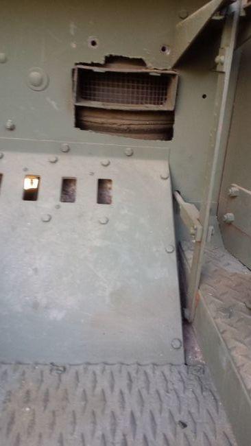 Radiator shutter lever at floor