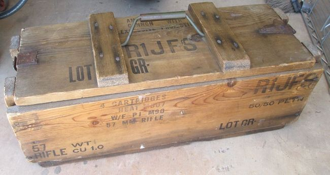 FS RARE WW2 dated 57MM R R Ammo Crate G503 Military