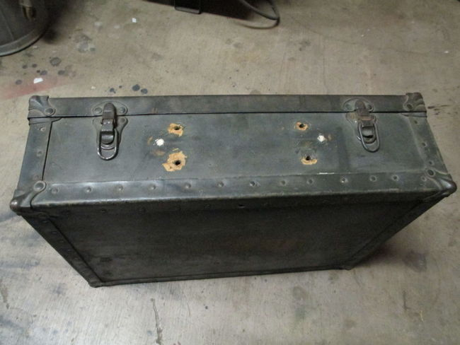 AAF Crew Chief Chest prior to restoration