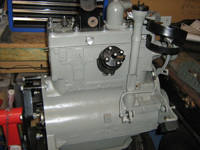 vht engine paint ford gray  vht  tractor engine and wiring
