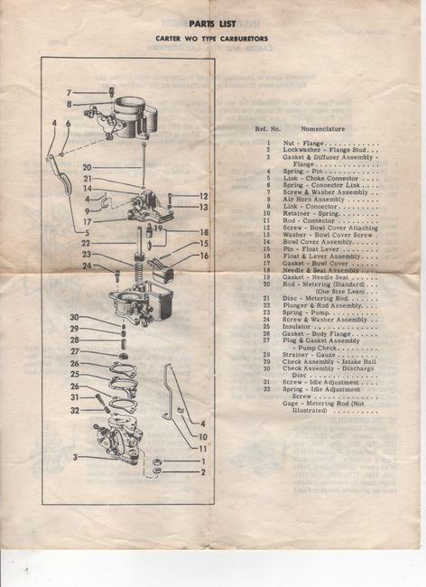 CARbureTER_WO_type_parts_list_instruction_sheet_form_8-135_back