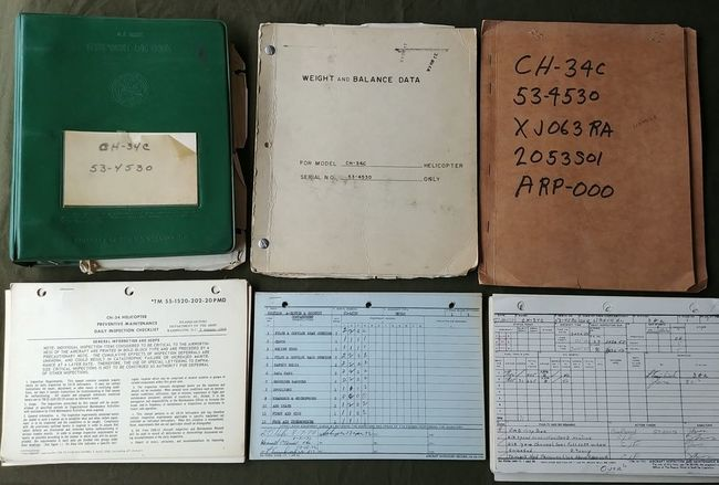 CH-34C_53-4530_Helicopter_Paperwork_Lot