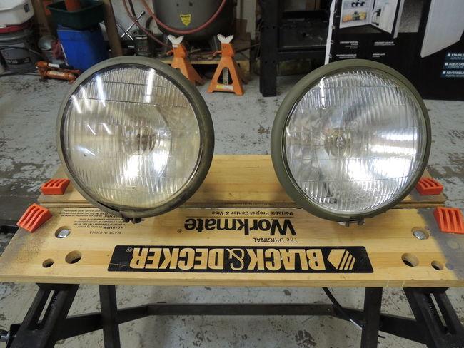 Large Fender Mount Headlights : Halftrack fender mounted headlights for sale