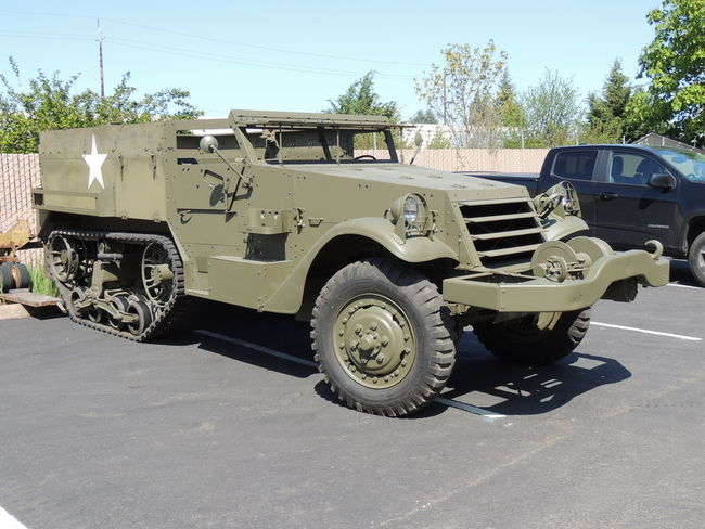 For Sale Restored White M2A1 Halftrack - G503 Military Vehicle
