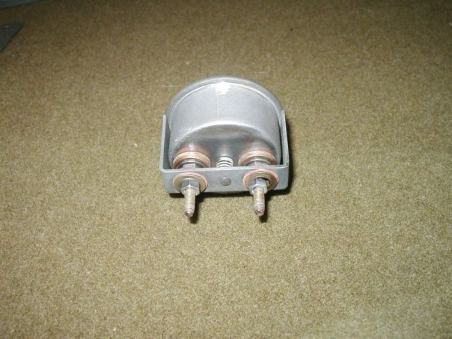 Back of Stewart-Warner 0-30 Amperes Gauge