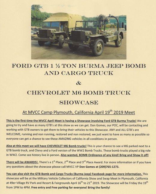 Camp Plymouth GTB, M6 Showcase Flyer 1