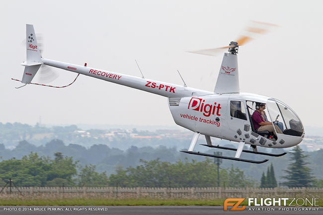 Robinson R44 ZS-PTK Grand Central Airport FAGC