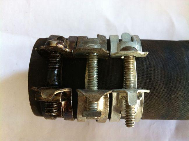 NOS A10 1/2 hose clamps