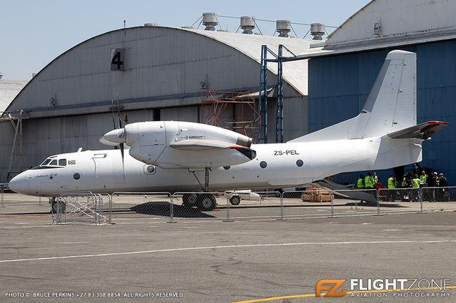 Antonov AN-32B ZS-PEL Rand Airport FAGM