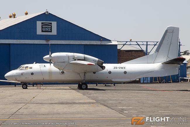 Antonov AN-32B ZS-OWX Rand Airport FAGM