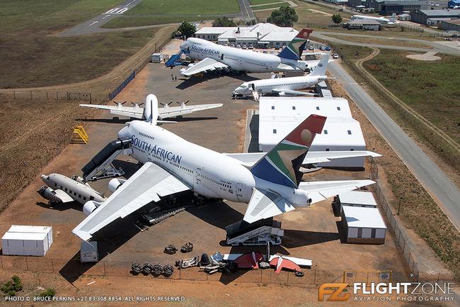 Boeing 747SP ZS-SPC Douglas DC-4 C-54 ZS-AUA DC-6 9Q-CGZ ZS-SAN Rand Airpor