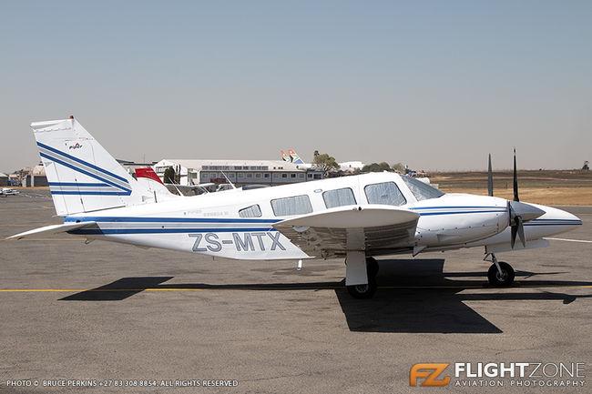 Piper PA-34 Seneca ZS-MTX Rand Airport FAGM